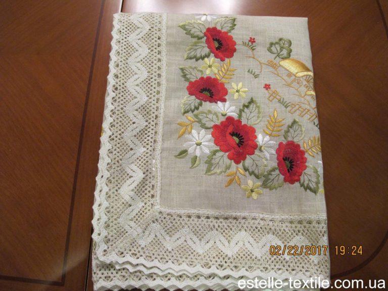 """Скатертина-""""Маки""""-140х180 photo"""