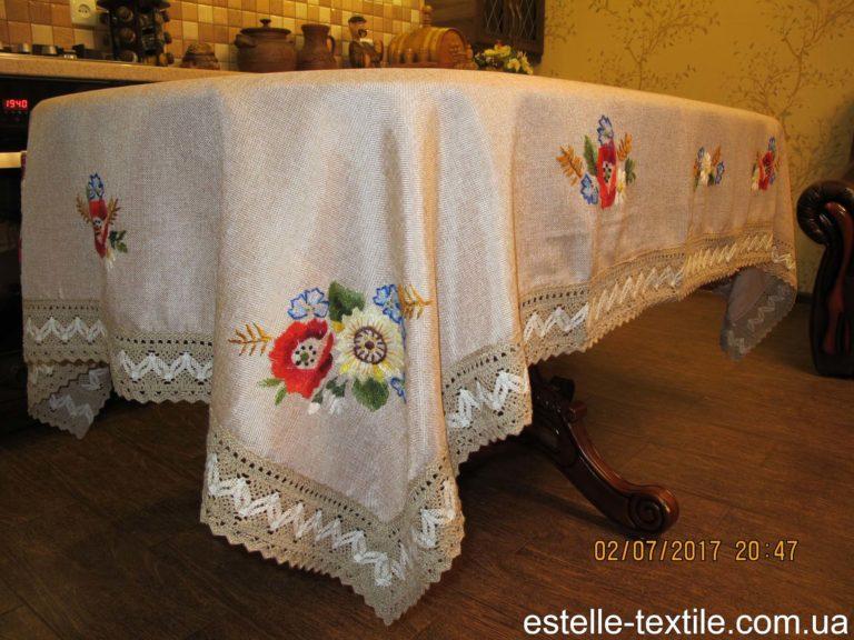 """Скатертина-""""Польові-квіти""""-150х220 photo"""
